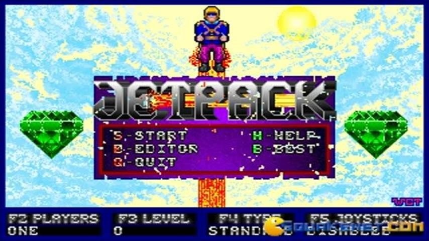 Jetpack (dos) online game | retrogames. Cz.