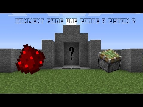 minecraft fr tuto redstone 1 comment faire une porte a piston 2x3 youtube. Black Bedroom Furniture Sets. Home Design Ideas