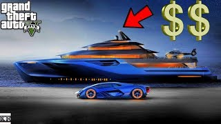 GTA 5- *New* Franklin Buys Most Expensive Yacht (GTA 5 Real Life Mods SS10 #114)