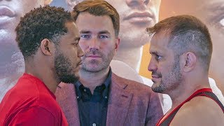 Michael Hunter vs. Fabio Maldonado FACE TO FACE in Maryland | DAZN & Sky Sports Boxing