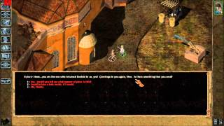 lets play baldurs gate 2 solo run part 6 harpers in the docks