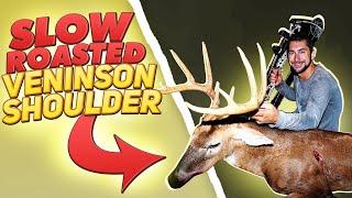 Slow Roasted Venison Shoulder! Deer Meat For Dinner! Video