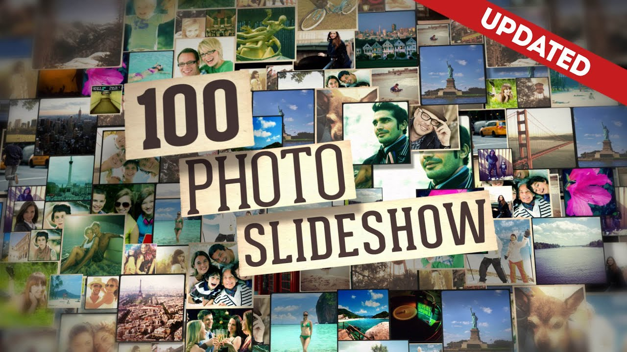 100 photo slide show after effects template - youtube, Presentation templates