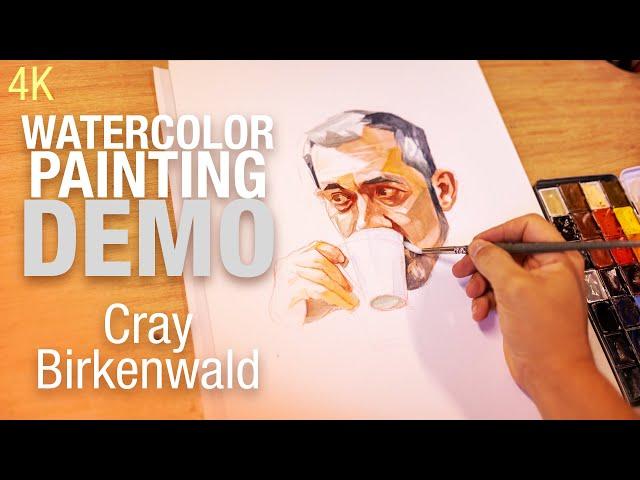 🎨🪑 Demo Aquarelle   Portrait de Cray Birkenwald 4K