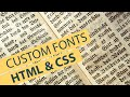 HTML & CSS: Adding Custom Fonts (Easy)