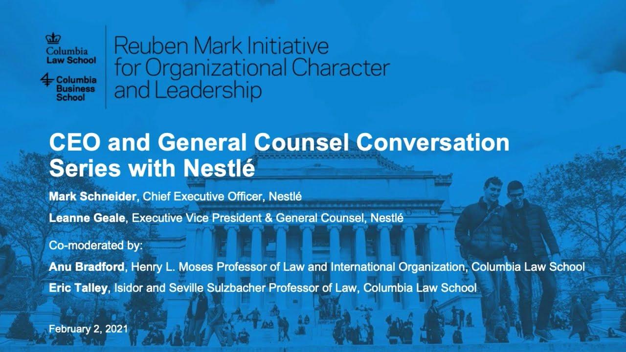 CEO-GC Conversation Series: Nestlé