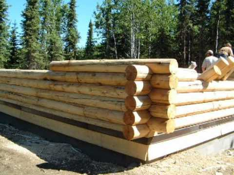 24 39 x 28 39 log cabin construction video series sterling for Log cabin plan con soppalco