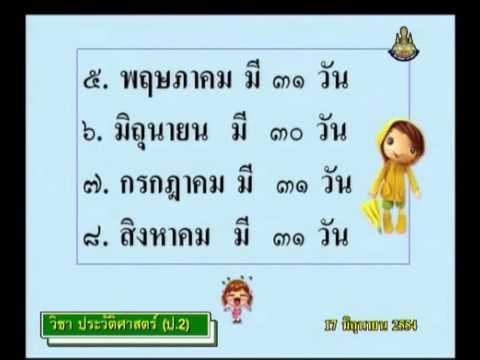 020 540617 P2his D historyp 2 ประวัติศาสตร์ป 2+ใบกิจกรรมวันเวลาแบบไทย สากล ป.2