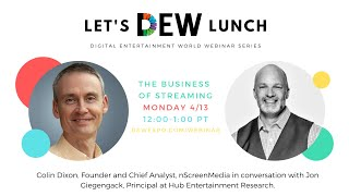Let's DEW Lunch Webinar with Hub Entertainment Research April 13, 2020