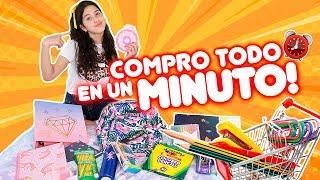 1 Minuto ⏰ para agarrar TODOS LOS ÚTILES ESCOLARES GRATIS!!! ARRUINE A MIS PAPAS! 😰| Leyla Star 💫
