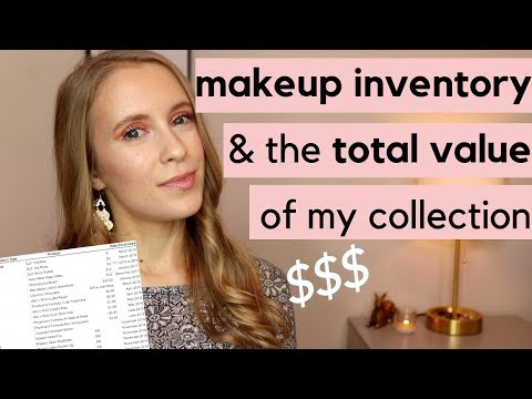 MAKEUP INVENTORY | Number Of Items, Collection Goals & Total Value