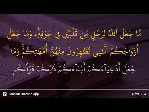 Al-Ahzab Ayat 4