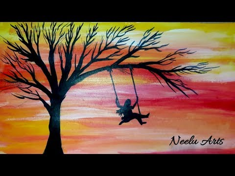 Simple and easy landscape watercolour painting by neelu arts