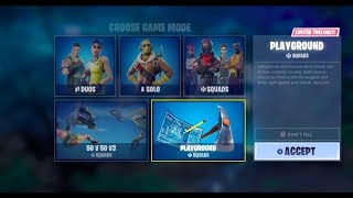 How To Play PLAYGROUND MODE in Fortnite RIGHT NOW on PS4 XBOXONE PC NINTENDO SWITCH