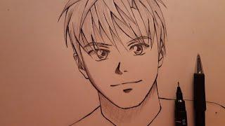anime boy draw simple