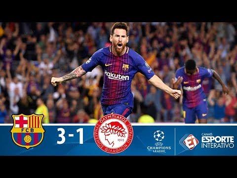 Melhores Momentos - Barcelona 3 x 1 Olympiacos - Champions League (18/10/2017)