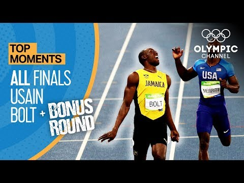 Usain Bolt | ALL Olympic finals + Bonus round | Top Moments