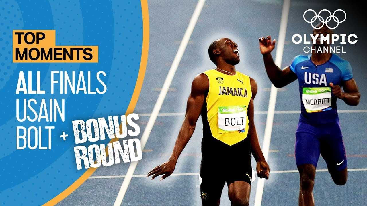 Usain Bolt | ALL Olympic finals + Bonus round | Top Moments 2