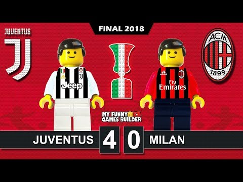 Finale TIM Cup 2018 • Juventus vs Milan 4-0 • TIMCup Final • Lego Football Highlights Coppa Italia
