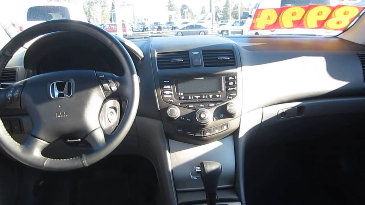 2004 Honda Accord Redondo Red Pearl Stock 30159bl Interior Youtube