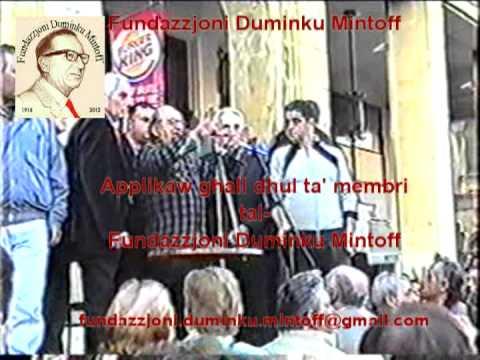 Duminku Mintoff il Belt Valletta