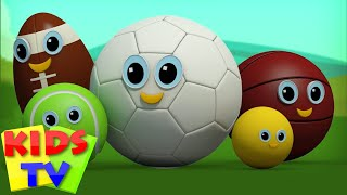 Sports Ball Finger Family | Football Finger Family | Kids Rhymes | Rhymes For Children Videos