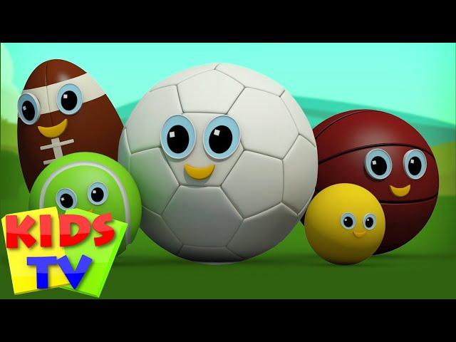 Sports Ball Finger Family | Football Finger Family | Kids Rhymes | Rhymes For Children Videos