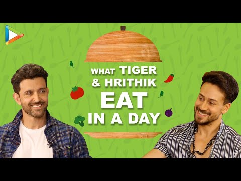 WOW- Hrithik Roshan \u0026 Tiger Shroff REVEAL their DIET plans \u0026 what they eat in a day