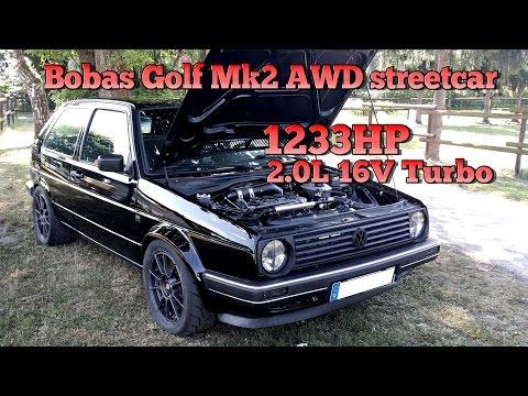 Brutal Golf Mk2 1233HP 16V Turbo Acceleration from Boba Motoring!!! FULL VIDEO 2015