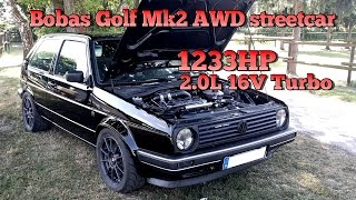 vuclip Brutal Golf Mk2 1233HP 16V Turbo Acceleration from Boba Motoring!!! FULL VIDEO 2015