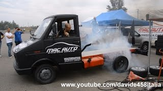 Iveco Turbo Daily burnout & donuts!