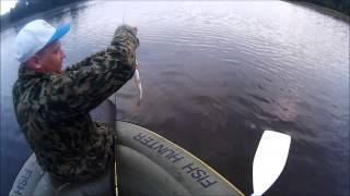 Рыбалка в Калининграде и  области//// озеро за  п.Железнодорожным, под полькой  границей.
