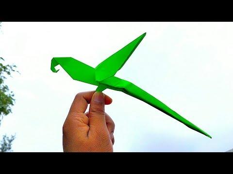 Time Lapse - Paper Parrot    Origami Parrot    DIY