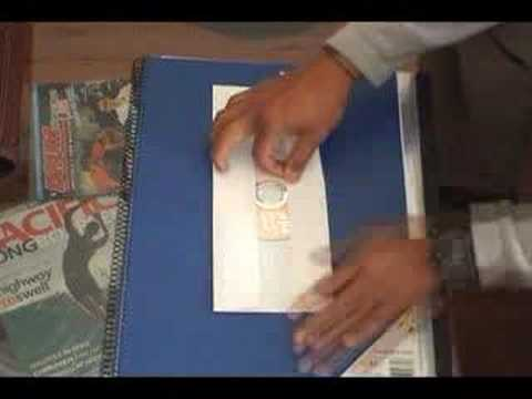 How to make a CD sleeve - YouTube