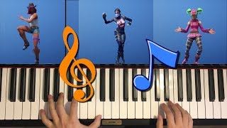 *NEW* Leaked Fortnite Emotes On Piano (Knee Slapper, Bombastic, Hot Marat)