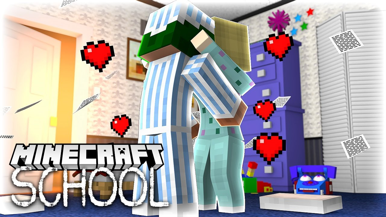 Download Minecraft School - LITTLE LIZARD FINALLY KISSES HIS CRUSH!?