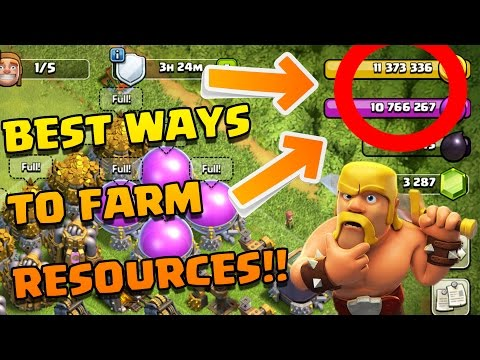 How to Get SUPER RICH In Resources [2017] REALLY Fast in CoC!! |Clash of Clans