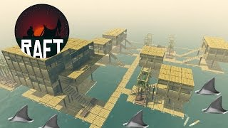One of GrayStillPlays's most viewed videos: Shark Watch Tower Built In Biggest Raft City Ever! Multi-Level Housing + More - Raft Game - Gameplay