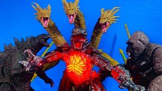 Mecha Godzilla vs Godzilla vs Kong vs king Ghidorah parts 1,2,3 all together