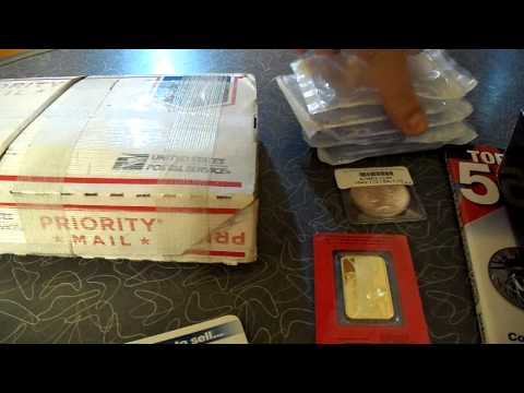 Super Saturday Silver and Gold Bullion Bars Coins Unboxing!