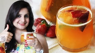 Non-alcoholic Fruit Sangria | Easiest Summer Coolers | Kanak's Kitchen [hd]