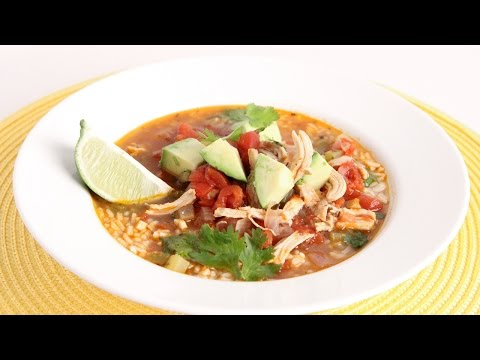 Quick Chicken Rice & Lime Soup Recipe