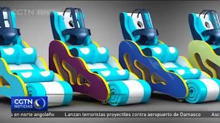 Colombiana diseña artefacto de rehabilitación para menores con discapacidad