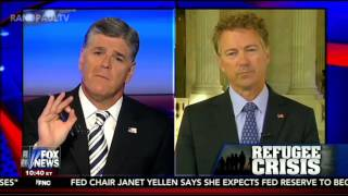 "Rand Paul on Fox News ""Hannity"" talks Syrian Refugees 9/24/15"
