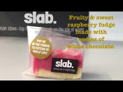 Raspberry & White Choc Slab Flavour Video - Slab Artisan Fudge