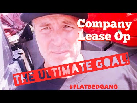Company Driver, Lease Op, & The Ultimate Goal!