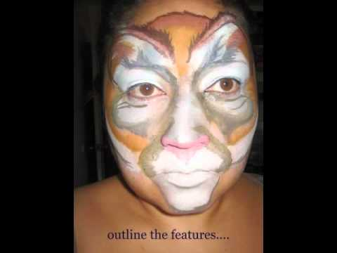 Cougar Face Paint - YouTube