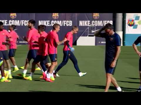 Jasper Cillessen's first training session with FC Barcelona