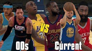 2000's NBA Players vs Current NBA Players! | NBA 2K18 Gameplay |