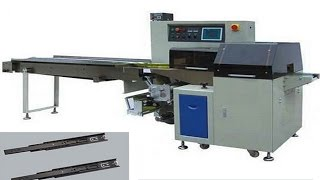 Down paper flow packing machine horizontal packaging equipment for bread snacks dried food chocolate